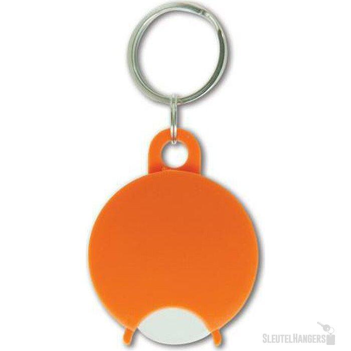 Sleutelhanger met winkelwagenmuntje Almeria oranje