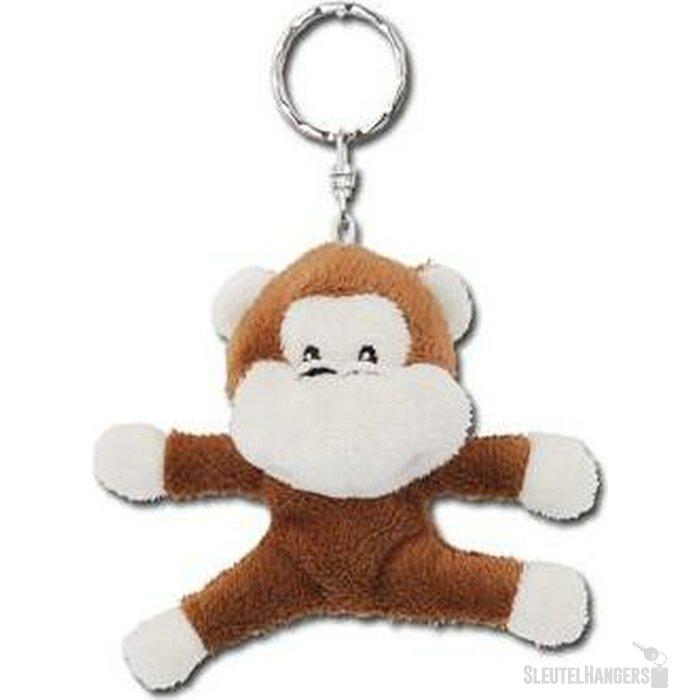 Sleutelhanger pluche knuffel Monkey bruin