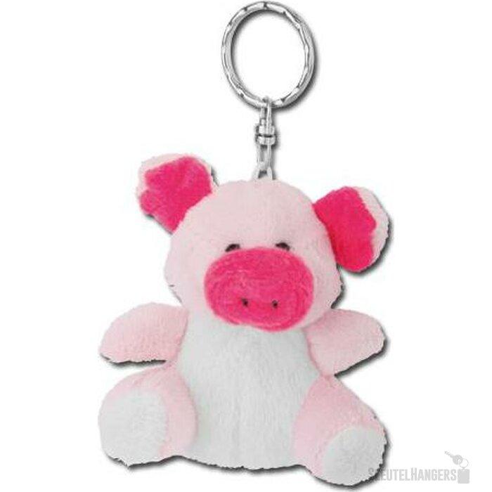 Sleutelhanger pluche knuffel Piglet roze