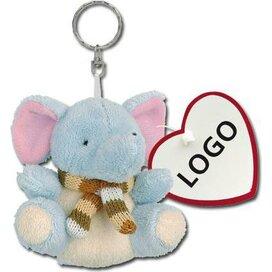 Sleutelhanger pluche knuffel Simba lichtblauw