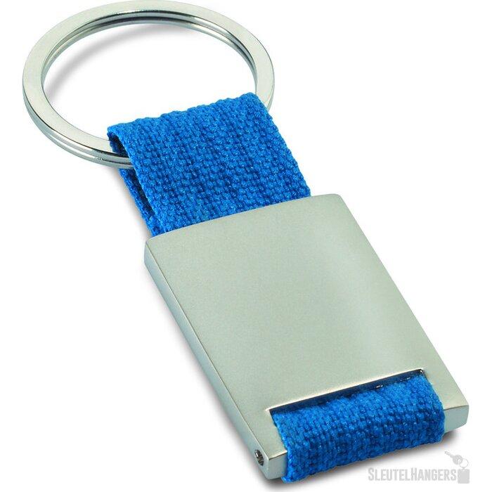 Metalen sleutelhanger Tech blauw