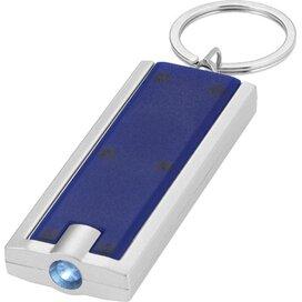 Zaklamp met sleutelhanger blauw,Zilver