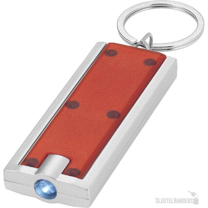 Zaklamp met sleutelhanger Rood,Zilver