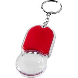 Zoomy sleutelhanger met vergrootglas en lampje Rood
