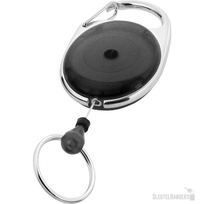 Gerlos sleutelhanger en rollerclip zwart Zwart