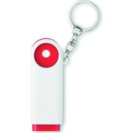 Munten sleutelhanger Compras rood