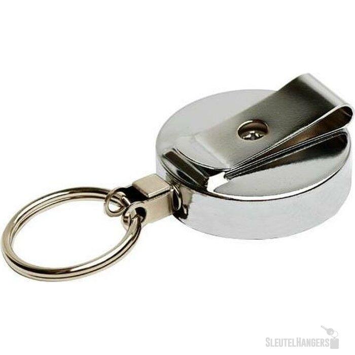 Jojo 50 met sleutelring & metalen ketting zilver