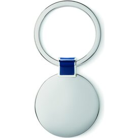 Metalen sleutelhanger Roundy royal blauw