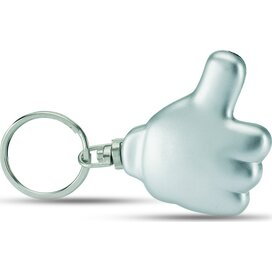 Thumbs up LED sleutelhanger Positivo zilver