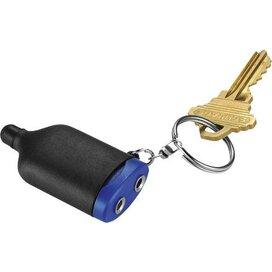 2-in-1 Muzieksplitter/stylus met sleutelhanger Zwart,koningsblauw