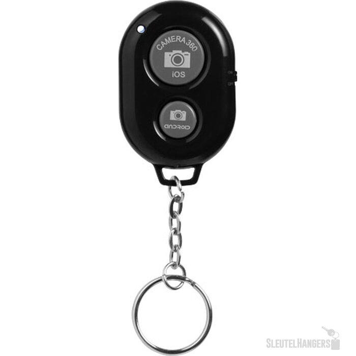 Selfie sleutelhanger met Bluetooth afstandsbediening voor camera Zwart