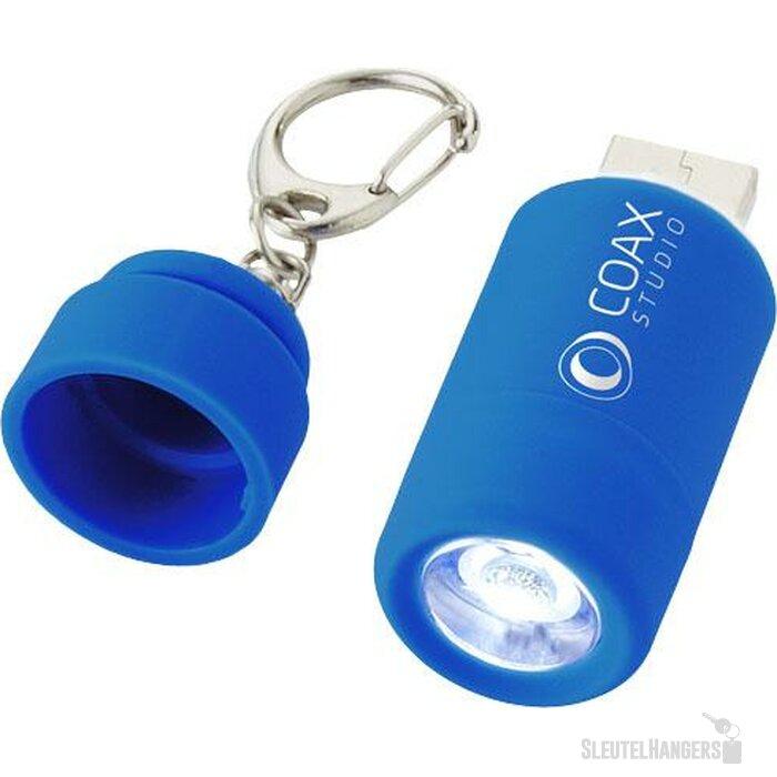 Avior oplaadbaar USB-sleutelhangerlampje Lichtblauw