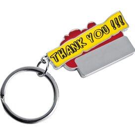 Sleutelhanger Thank you rood