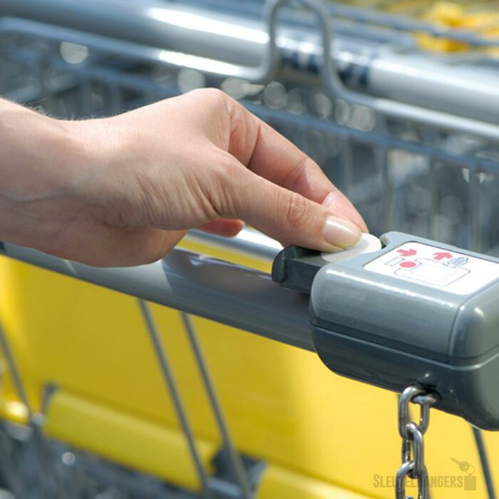 Sleutelhanger met winkelwagenmunt Dimity