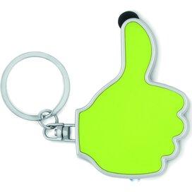 Sleutelhanger thumbs up-vorm Gioia limoen