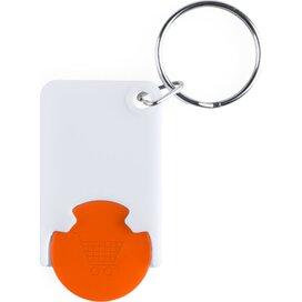 Zabax Munt Sleutelhanger Oranje