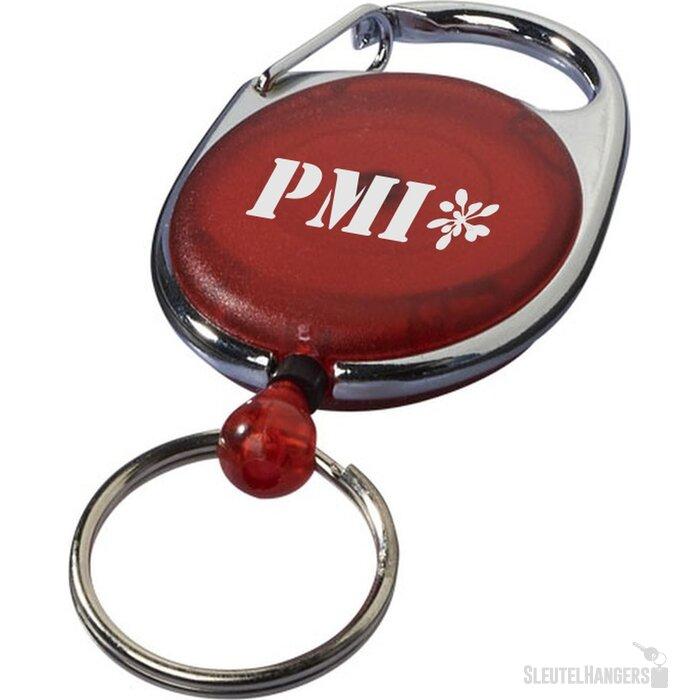 Gerlos sleutelhanger en rollerclip rood Rood