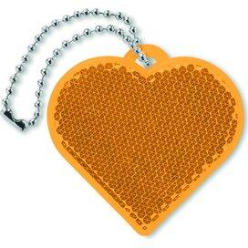 Reflector hartvorm Catchh Oranje