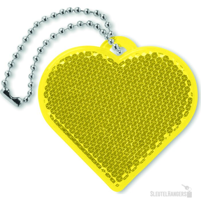 Reflector hartvorm Catchh Geel
