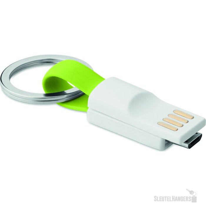 Sleutelhanger micro USB Mini Lime groen