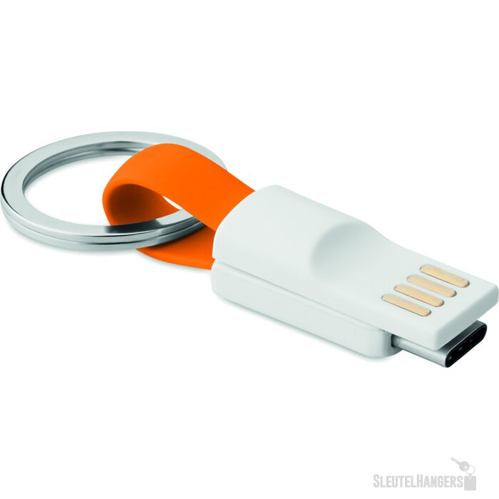 Sleutelhanger USB type C Mini C Oranje
