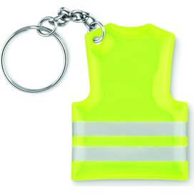 Sleutelhanger veiligheidsvest Visible ring neon geel