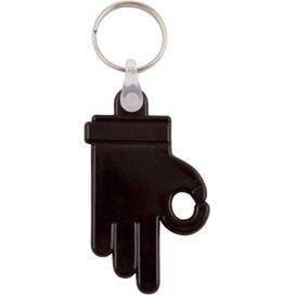 Kunststof sleutelhanger OK Hand zwart