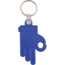 Kunststof sleutelhanger OK Hand donkerblauw