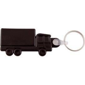 Kunststof sleutelhanger Truck zwart