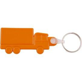 Kunststof sleutelhanger Truck oranje