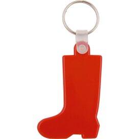 Kunststof sleutelhanger Laars rood