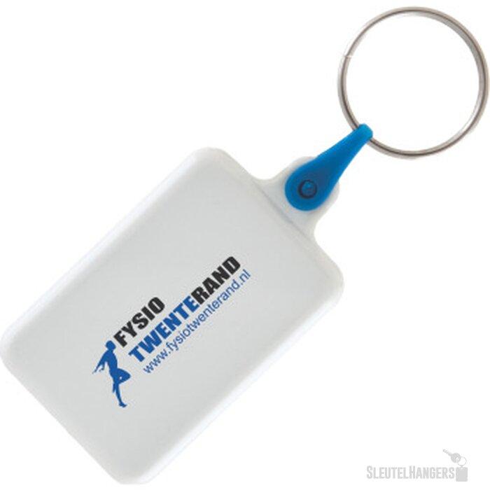 Sleutelhanger winkelwagenmunt met € 0,50 muntje donkerblauw