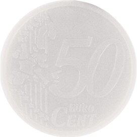 Sleutelhanger winkelwagenmunt met € 0,50 muntje wit
