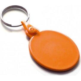 Kunststof sleutelhanger ovaal SALE oranje
