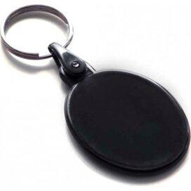 Kunststof sleutelhanger ovaal SALE zwart