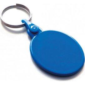 Kunststof sleutelhanger ovaal SALE donkerblauw