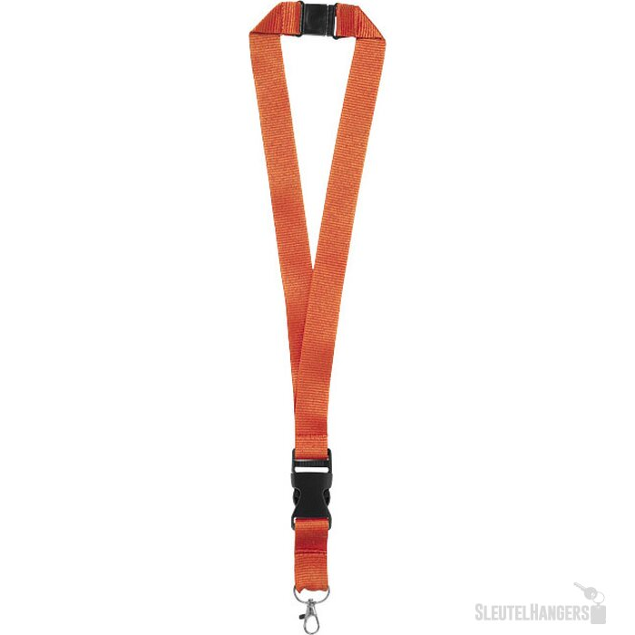 Yogi lanyard met veiligheidssluiting Oranje