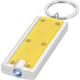 Castor zaklamp met sleutelhanger geel geel,Zilver