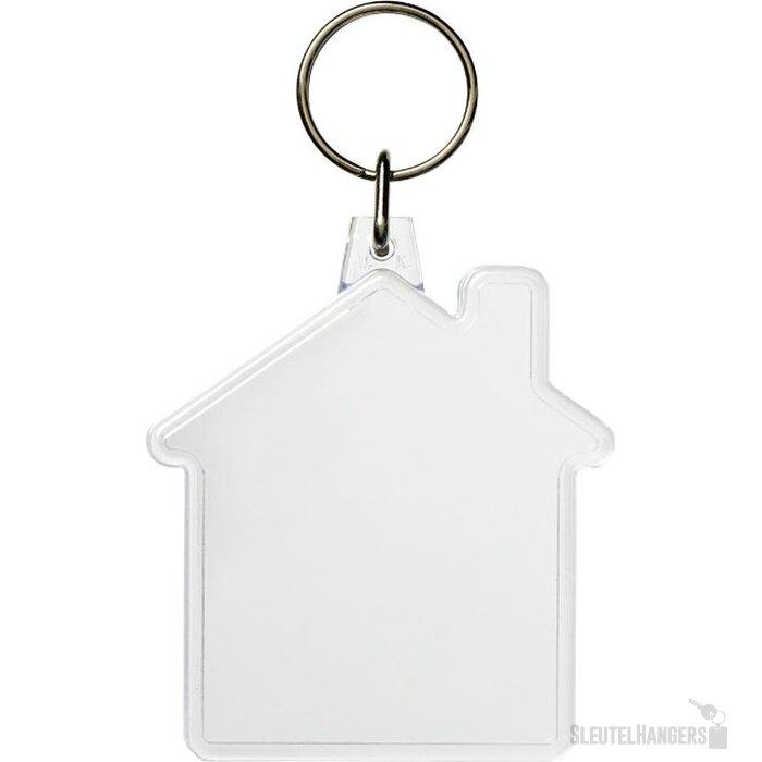 Combo huisvormige sleutelhanger Transparant