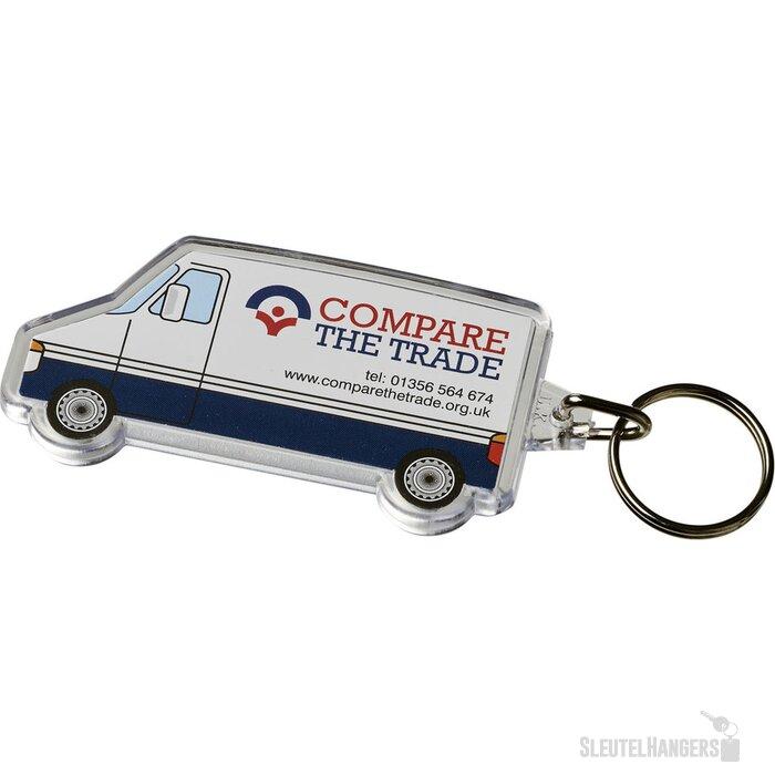 Combo busvormige sleutelhanger Transparant