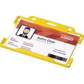 Vega kunststof badgehouder geel