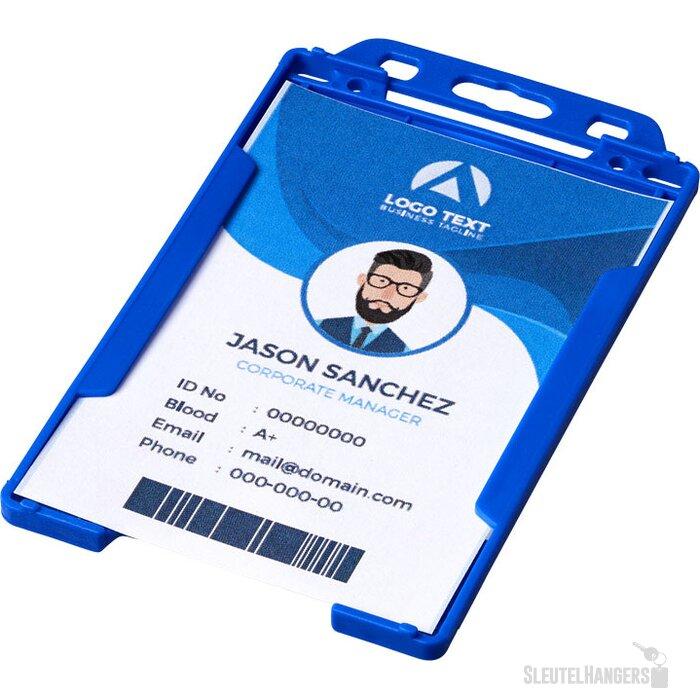 Pierre transparante badgehouder blauw