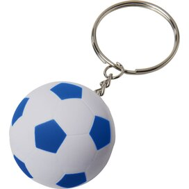 Striker voetbalsleutelhanger Wit,koningsblauw