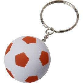 Striker voetbalsleutelhanger Wit,Oranje