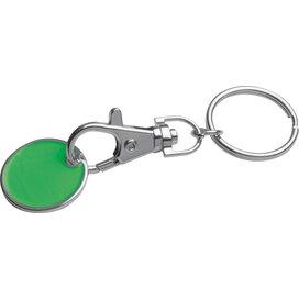 Sleutelhanger met muntje groen
