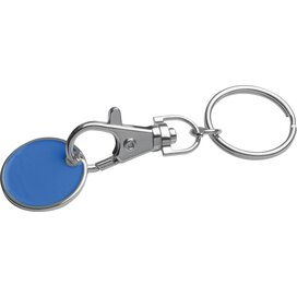 Sleutelhanger met muntje blauw