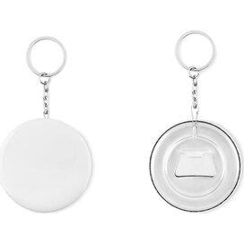 Sleutelhanger opener Pin flask mat zilver