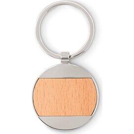 Sleutelhanger rond hout/metaal Matikas hout