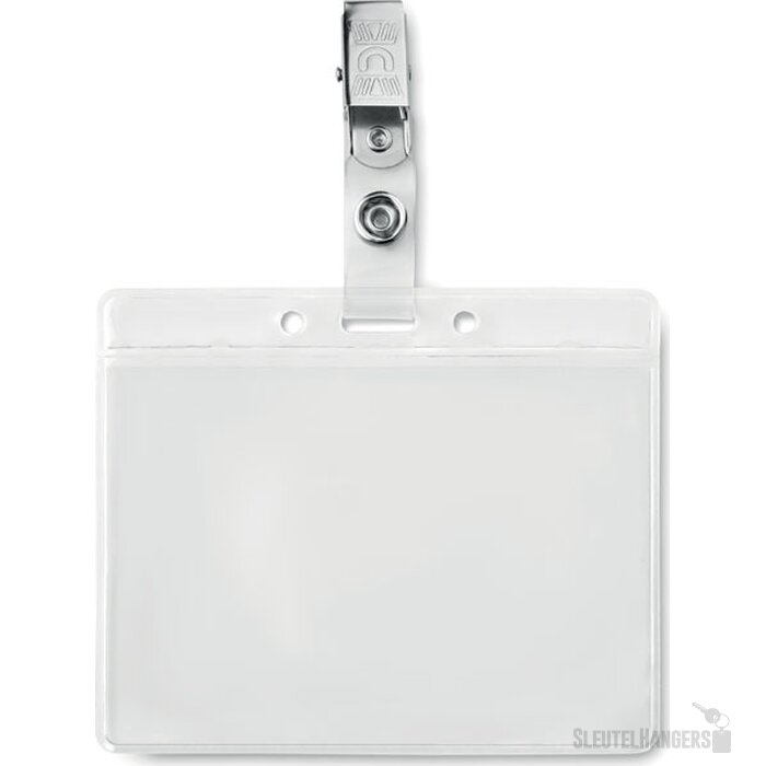 Badge holder pvc Clipbadge transparant