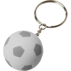 Striker voetbalsleutelhanger Wit,Zilver